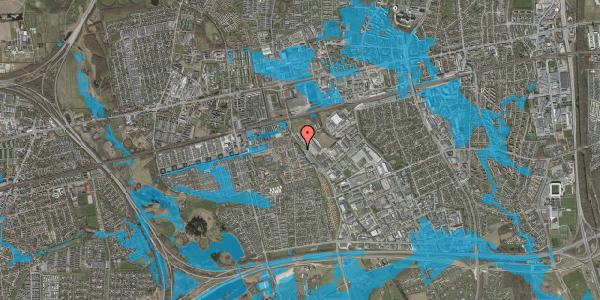 Oversvømmelsesrisiko fra vandløb på Firkløverparken 30, st. th, 2625 Vallensbæk
