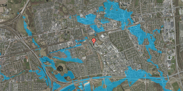 Oversvømmelsesrisiko fra vandløb på Firkløverparken 30, 1. 12, 2625 Vallensbæk