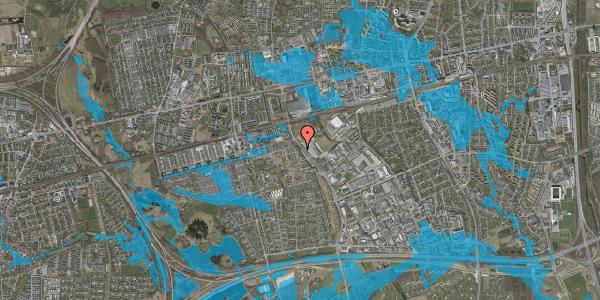 Oversvømmelsesrisiko fra vandløb på Firkløverparken 48, 2625 Vallensbæk