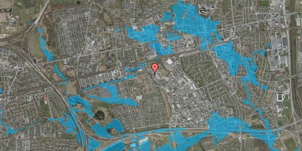 Oversvømmelsesrisiko fra vandløb på Firkløverparken 50, 2. 25, 2625 Vallensbæk
