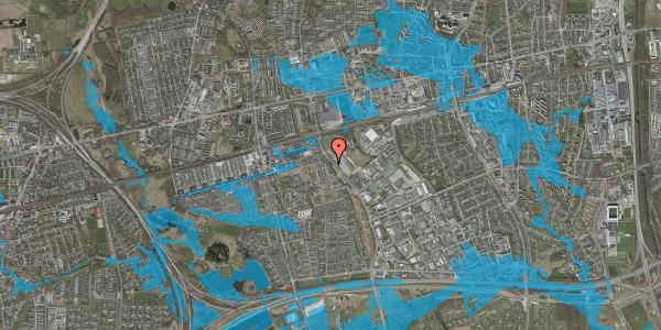 Oversvømmelsesrisiko fra vandløb på Firkløverparken 50, 1. 18, 2625 Vallensbæk