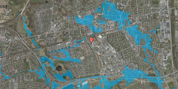 Oversvømmelsesrisiko fra vandløb på Firkløverparken 54, 2625 Vallensbæk
