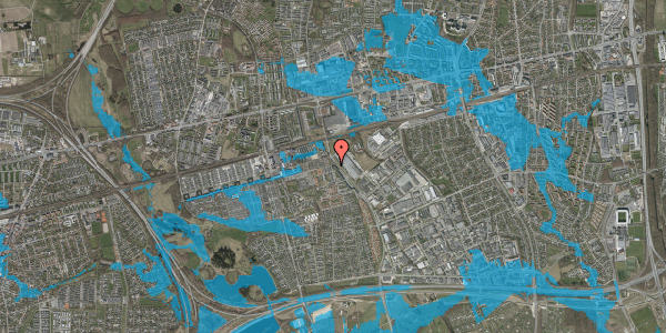 Oversvømmelsesrisiko fra vandløb på Firkløverparken 70, st. 3, 2625 Vallensbæk