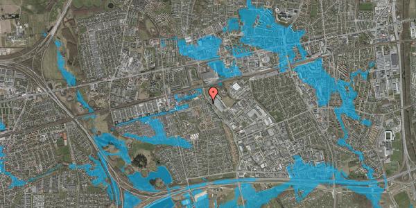 Oversvømmelsesrisiko fra vandløb på Firkløverparken 72, 4. 46, 2625 Vallensbæk