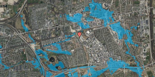 Oversvømmelsesrisiko fra vandløb på Firkløverparken 72, 4. 44, 2625 Vallensbæk