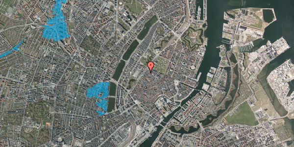 Oversvømmelsesrisiko fra vandløb på Rosenborggade 1B, 2. , 1130 København K