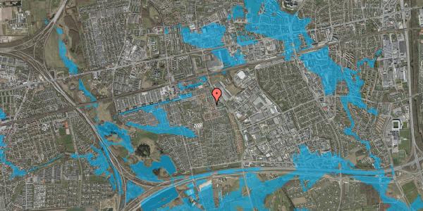 Oversvømmelsesrisiko fra vandløb på Nellikevænget 11C, 2625 Vallensbæk