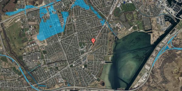 Oversvømmelsesrisiko fra vandløb på Gammel Køge Landevej 306D, 2650 Hvidovre