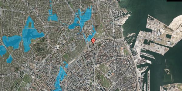 Oversvømmelsesrisiko fra vandløb på Borgervænget 3A, 2100 København Ø
