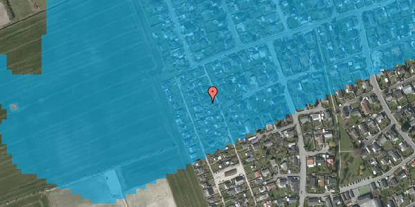 Oversvømmelsesrisiko fra vandløb på Hf. Dahlia 45, 2650 Hvidovre