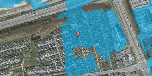 Oversvømmelsesrisiko fra vandløb på Hf. Kettehøj 33, 2650 Hvidovre