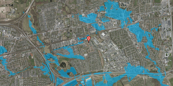 Oversvømmelsesrisiko fra vandløb på Kløvervænget 84, st. 21, 2625 Vallensbæk