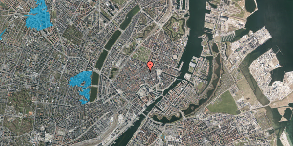 Oversvømmelsesrisiko fra vandløb på Pilestræde 30A, 1112 København K