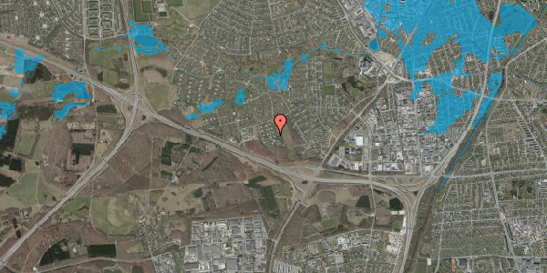 Oversvømmelsesrisiko fra vandløb på Kamillevænget 49, 2600 Glostrup