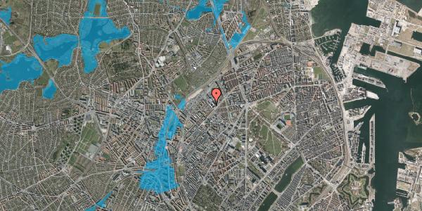 Oversvømmelsesrisiko fra vandløb på Vermundsgade 38, kl. , 2100 København Ø