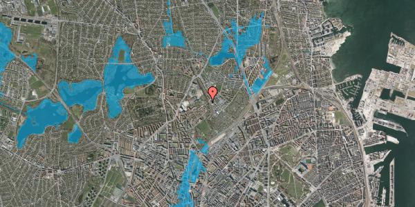 Oversvømmelsesrisiko fra vandløb på Bispebjerg Bakke 24, 2400 København NV