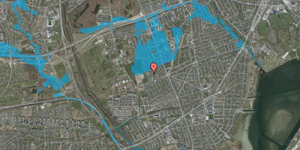 Oversvømmelsesrisiko fra vandløb på Hf. Dahlia 18, 2650 Hvidovre