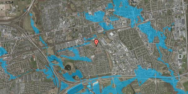 Oversvømmelsesrisiko fra vandløb på Kløvervænget 57, 2625 Vallensbæk