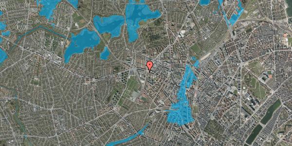 Oversvømmelsesrisiko fra vandløb på Hulgårdsvej 145, 2400 København NV