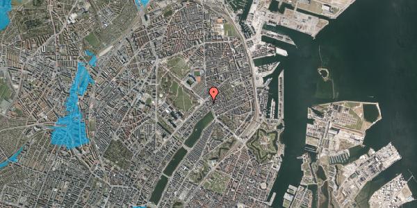 Oversvømmelsesrisiko fra vandløb på Østerbrogade 25A, 2100 København Ø