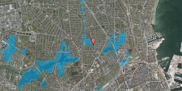 Oversvømmelsesrisiko fra vandløb på Rødhalsgangen 1, 2400 København NV