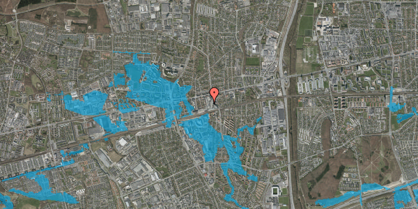Oversvømmelsesrisiko fra vandløb på Glostrup Shoppingcenter 71, st. , 2600 Glostrup