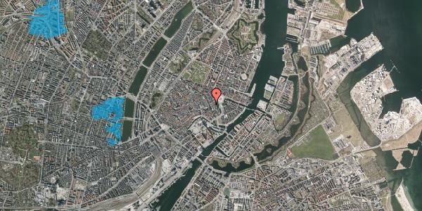 Oversvømmelsesrisiko fra vandløb på Bremerholm 3, st. , 1069 København K