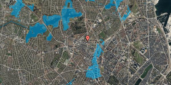 Oversvømmelsesrisiko fra vandløb på Dortheavej 2B, 2. th, 2400 København NV