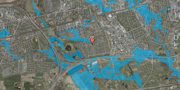 Oversvømmelsesrisiko fra vandløb på Tværbækvej 3, 2625 Vallensbæk