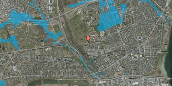 Oversvømmelsesrisiko fra vandløb på Avedøre Tværvej 68, 2650 Hvidovre