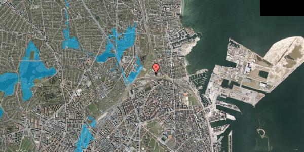 Oversvømmelsesrisiko fra vandløb på Svanemøllens Kaserne 81, 2100 København Ø