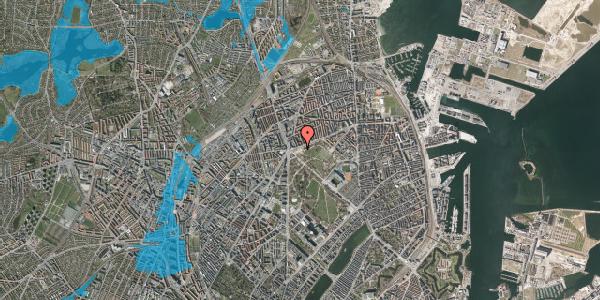 Oversvømmelsesrisiko fra vandløb på Jagtvej 182, 2100 København Ø
