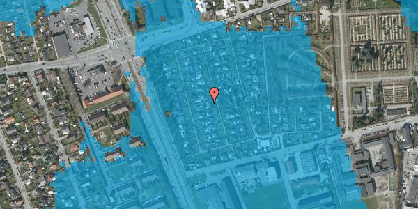 Oversvømmelsesrisiko fra vandløb på Hf. Svarø 51, 2650 Hvidovre