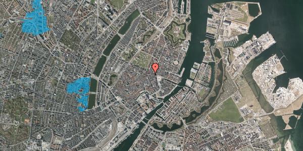 Oversvømmelsesrisiko fra vandløb på Ny Østergade 14, 1. , 1101 København K