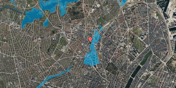 Oversvømmelsesrisiko fra vandløb på Vibevej 7A, 1. tv, 2400 København NV