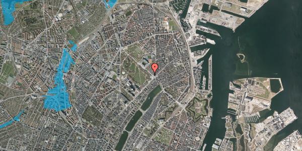 Oversvømmelsesrisiko fra vandløb på Øster Allé 1, 2. , 2100 København Ø