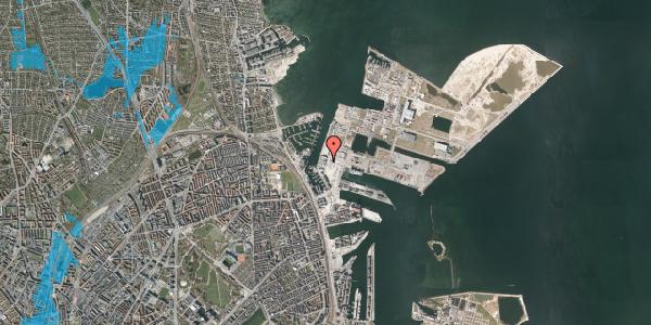 Oversvømmelsesrisiko fra vandløb på Sundkrogsgade 19, st. , 2100 København Ø