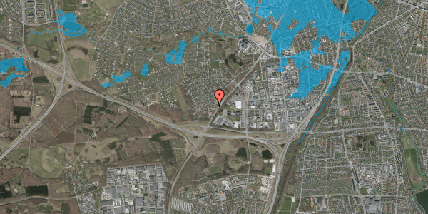 Oversvømmelsesrisiko fra vandløb på Ejbysvinget 56, 2600 Glostrup