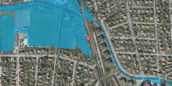 Oversvømmelsesrisiko fra vandløb på Rødhalsgangen 7, 2400 København NV