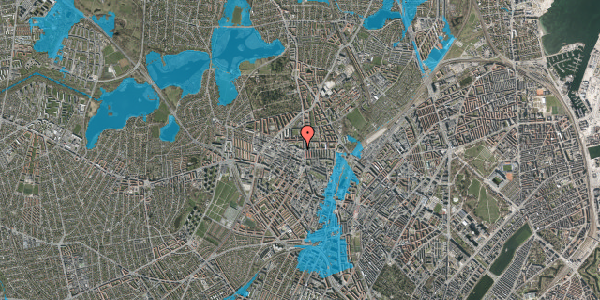 Oversvømmelsesrisiko fra vandløb på Dortheavej 2, 2. 6, 2400 København NV