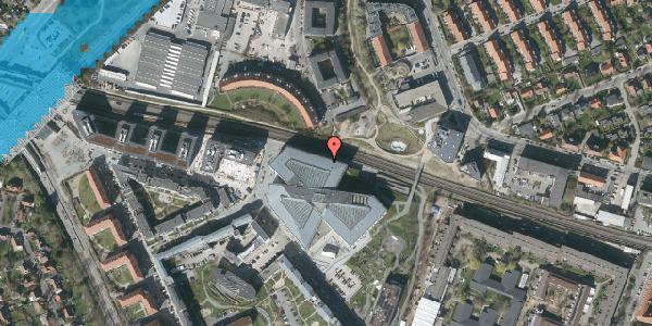 Oversvømmelsesrisiko fra vandløb på Osvald Helmuths Vej 12, 2000 Frederiksberg