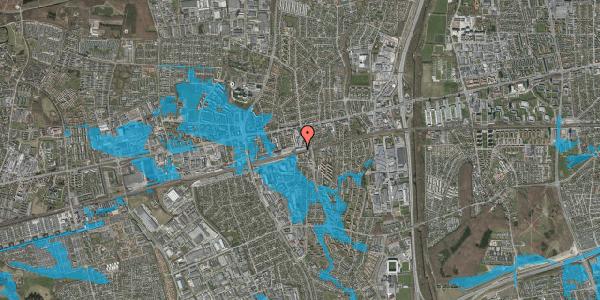 Oversvømmelsesrisiko fra vandløb på Banegårdsvej 34, 2600 Glostrup