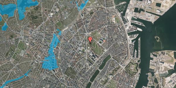 Oversvømmelsesrisiko fra vandløb på Edel Sauntes Allé 19, 2100 København Ø