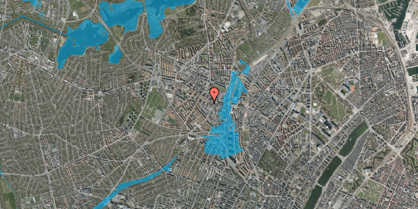 Oversvømmelsesrisiko fra vandløb på Tranevej 6B, 4. th, 2400 København NV