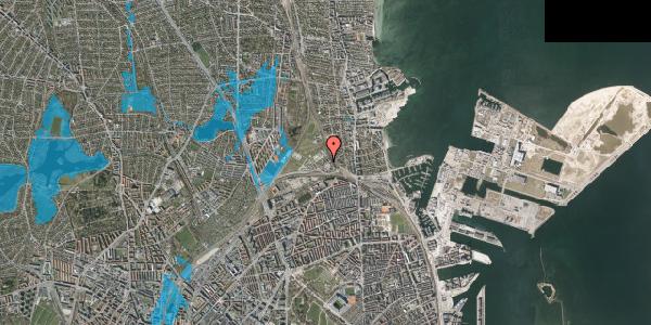 Oversvømmelsesrisiko fra vandløb på Svanemøllens Kaserne 40, 2100 København Ø