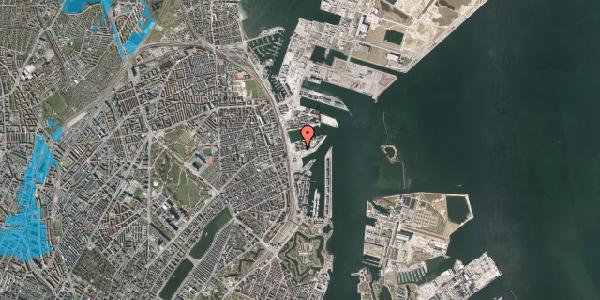 Oversvømmelsesrisiko fra vandløb på Marmorvej 17B, 1. tv, 2100 København Ø