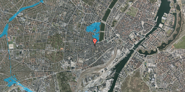 Oversvømmelsesrisiko fra vandløb på Vesterbrogade 73, 1620 København V