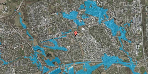 Oversvømmelsesrisiko fra vandløb på Firkløverparken 34, 2625 Vallensbæk