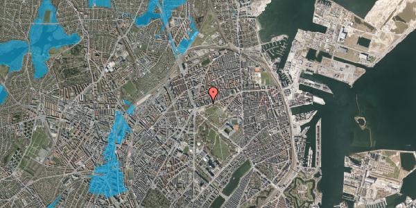 Oversvømmelsesrisiko fra vandløb på Jagtvej 183D, 2100 København Ø