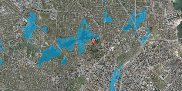 Oversvømmelsesrisiko fra vandløb på Rådvadsvej 64, 1. , 2400 København NV